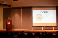 Gov. David Ige speaking at the HACC